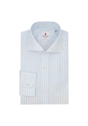 Zevi Big Stripes White and Azure-By-Hand Shirts