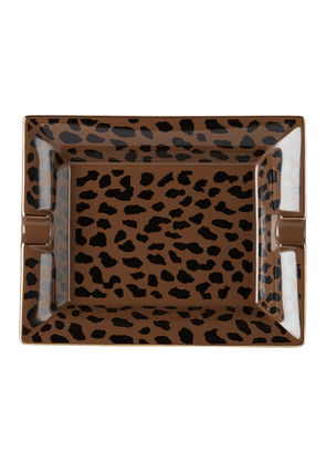 WACKO MARIA Brown Large Leopard Ashtray