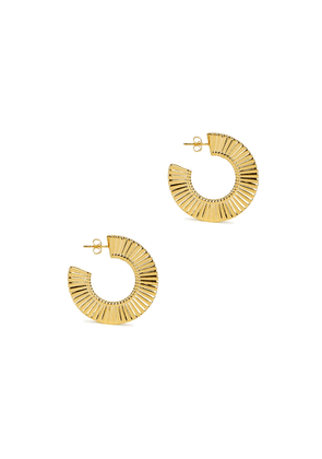 Missoma Large Flat Frill 18kt Gold-plated Hoop Earrings
