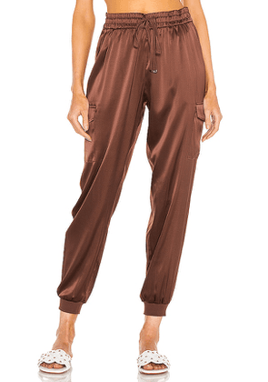 CAMI NYC Elsie Jogger in Chocolate. Size L, M, XS.