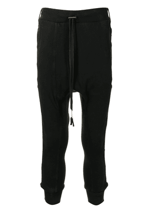 Boris Bidjan Saberi drop-crotch track pants - Black