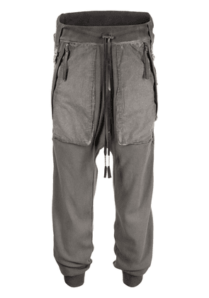 Boris Bidjan Saberi drop-crotch track pants - Grey