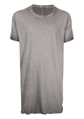 Boris Bidjan Saberi round neck cotton T-shirt - Grey