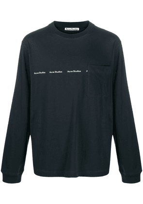 Acne Studios logo print long-sleeve T-shirt - Black