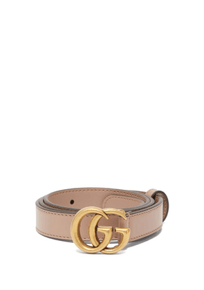 Gucci - GG-logo Leather Belt - Womens - Nude