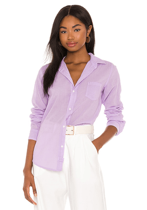 Frank & Eileen Barry Woven Button Up in Lavender. Size S, XS, M.