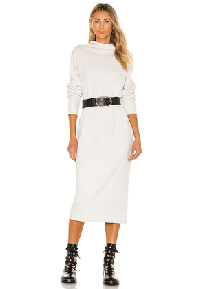 Frank & Eileen Funnel Neck Midi Dress in Cream. Size S, XS, M.