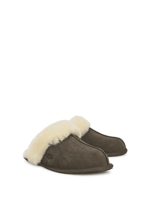 UGG Scuffette II Dark Brown Suede Slippers