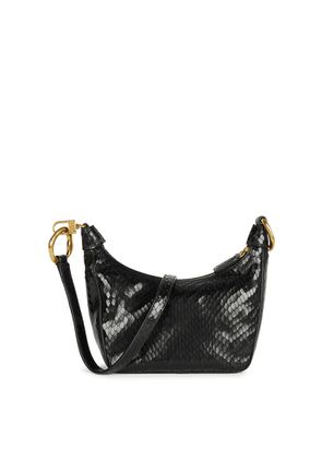 STAUD Holt Black Leather Shoulder Bag