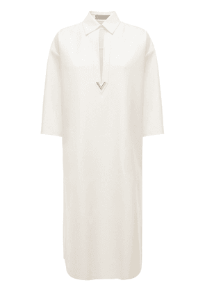 Cotton Gabardine Shirt Dress