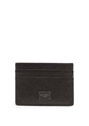 Dolce & Gabbana - Logo-print Grained-leather Cardholder - Mens - Black