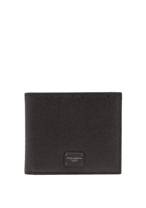 Dolce & Gabbana - Logo-print Grained-leather Bi-fold Wallet - Mens - Black