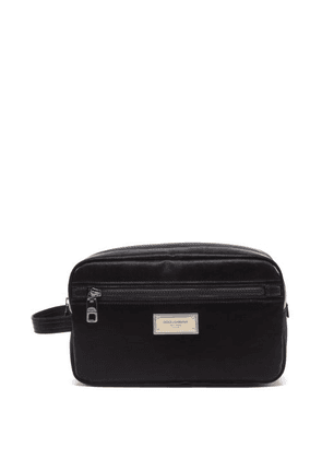 Dolce & Gabbana - Logo-plaque Canvas Wash Bag - Mens - Black