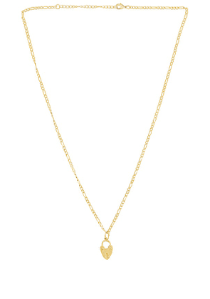 Mountain and Moon On The Rocks Necklace in Metallic Gold.
