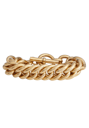 Giant Curb Chain 18kt gold-plated bracelet