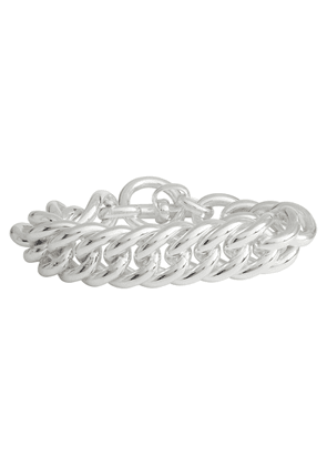 Giant Curb Chain silver-plated bracelet