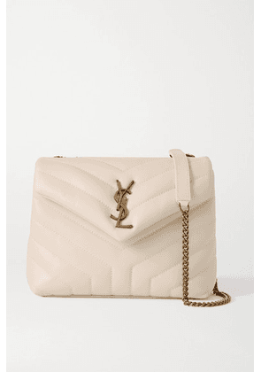SAINT LAURENT - Loulou Small Quilted Leather Shoulder Bag - White