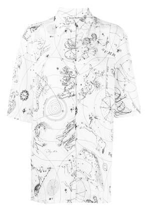 Acne Studios jacquard print short-sleeved shirt - White