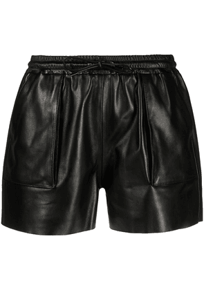 TOM FORD elasticated leather shorts - Black