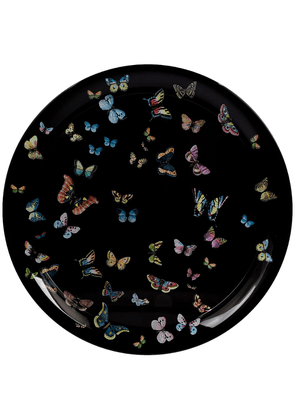 Fornasetti butterfly printed tray - Black