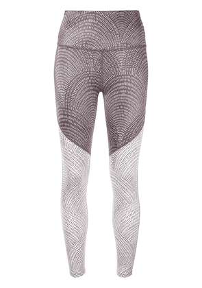 Beyond Yoga abstract line-print leggings - Brown