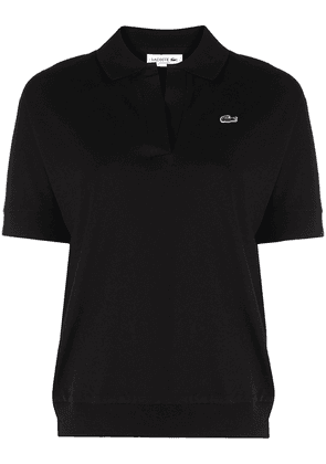 Lacoste logo-embroidered polo shirt - Black