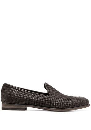 Fratelli Rossetti woven-detail loafers - Brown