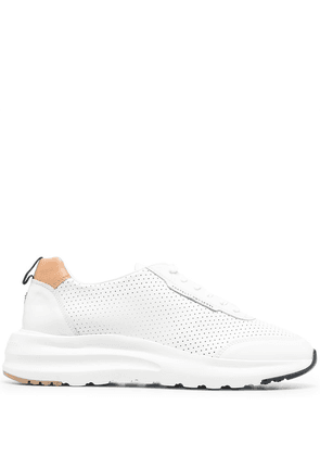 Fratelli Rossetti perforated low-top sneakers - White