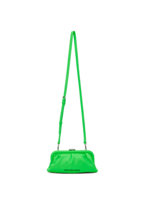 Balenciaga Green XS Cloud Clutch