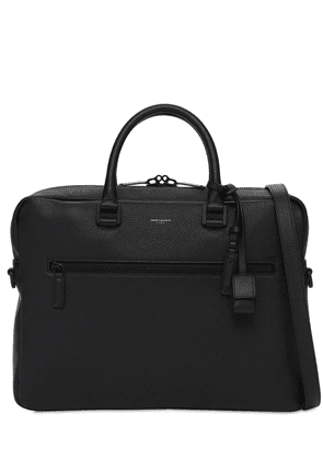 Logo Leather Briefcase