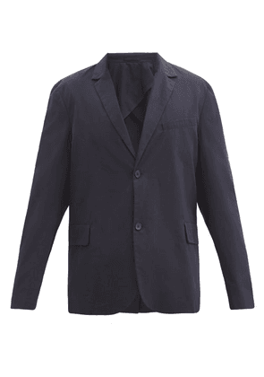 Raey - Relaxed-fit Single-breasted Cotton Blazer - Mens - Navy