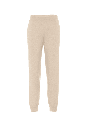 Cashmere and wool trackpants