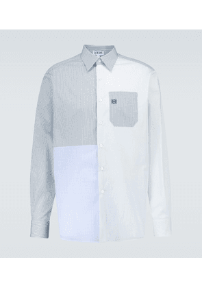 Checked patchwork cotton shirt
