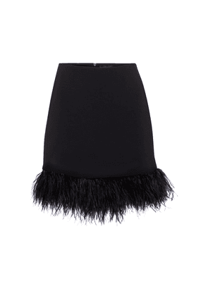 Exclusive to Mytheresa – Feather-trimmed cady miniskirt