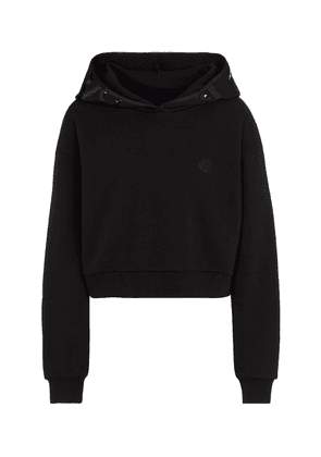 Cotton-blend cropped hoodie