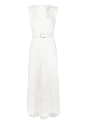 Adeam belted maxi dress - White