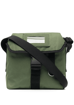 Acne Studios logo-patch messenger bag - Green