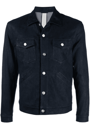 Giorgio Brato fitted leather jacket - Blue