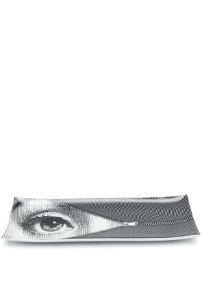 Fornasetti Occhi painted tray - Black