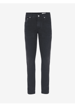 ALEXANDER MCQUEEN McQueen Embroidered Jeans - Item 567861QNY771001