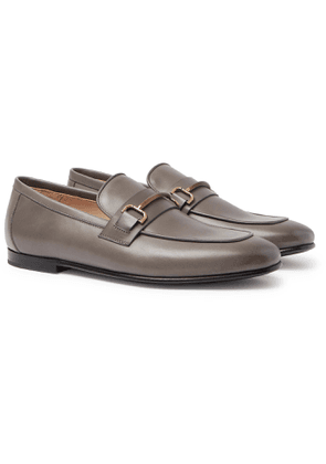 DUNHILL - Chiltern Leather Loafers - Men - Gray