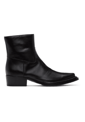 Acne Studios Black Square-Toe Zip Boots