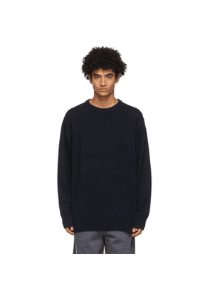 Acne Studios Navy Recycled Cashmere Sweater