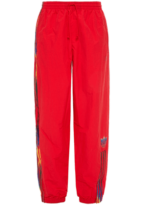 Adidas Originals Striped Shell Track Pants Woman Red Size 38