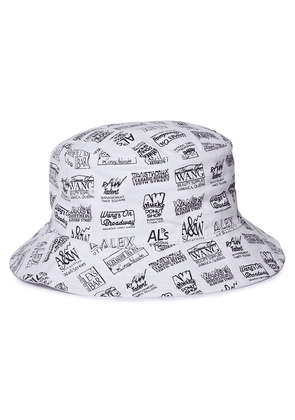 Alexander Wang Printed Cotton-twill Bucket Hat Woman White Size ONESIZE