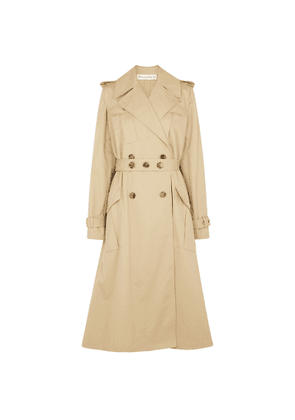 JW Anderson Sand Double-breasted Cotton-twill Trench Coat