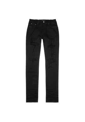 Amiri Thrasher Plus Black Distressed Skinny Jeans