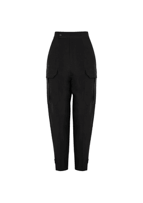 Equipment Agadire Black Satin-twill Cargo Trousers