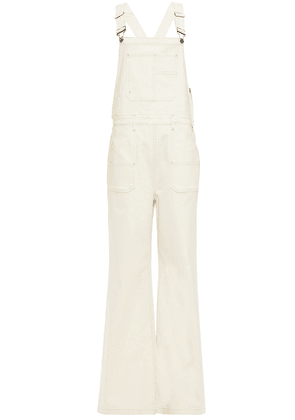 Frame Denim Overalls Woman Ivory Size S