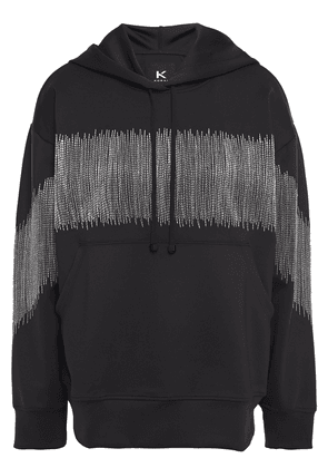 Koral Titrate Metallic Embroidered Scuba Hoodie Woman Black Size XS
